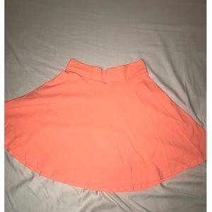 Orange H&M circle skirt